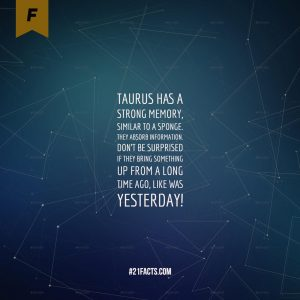 facts about taurus 9