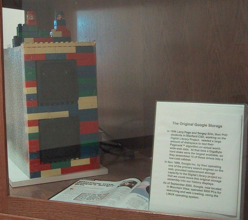 Google's First Computer Storage Was Made From LEGO.