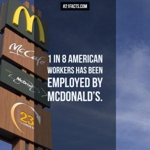 1 in 8 american workers has been employed by mcdonald's