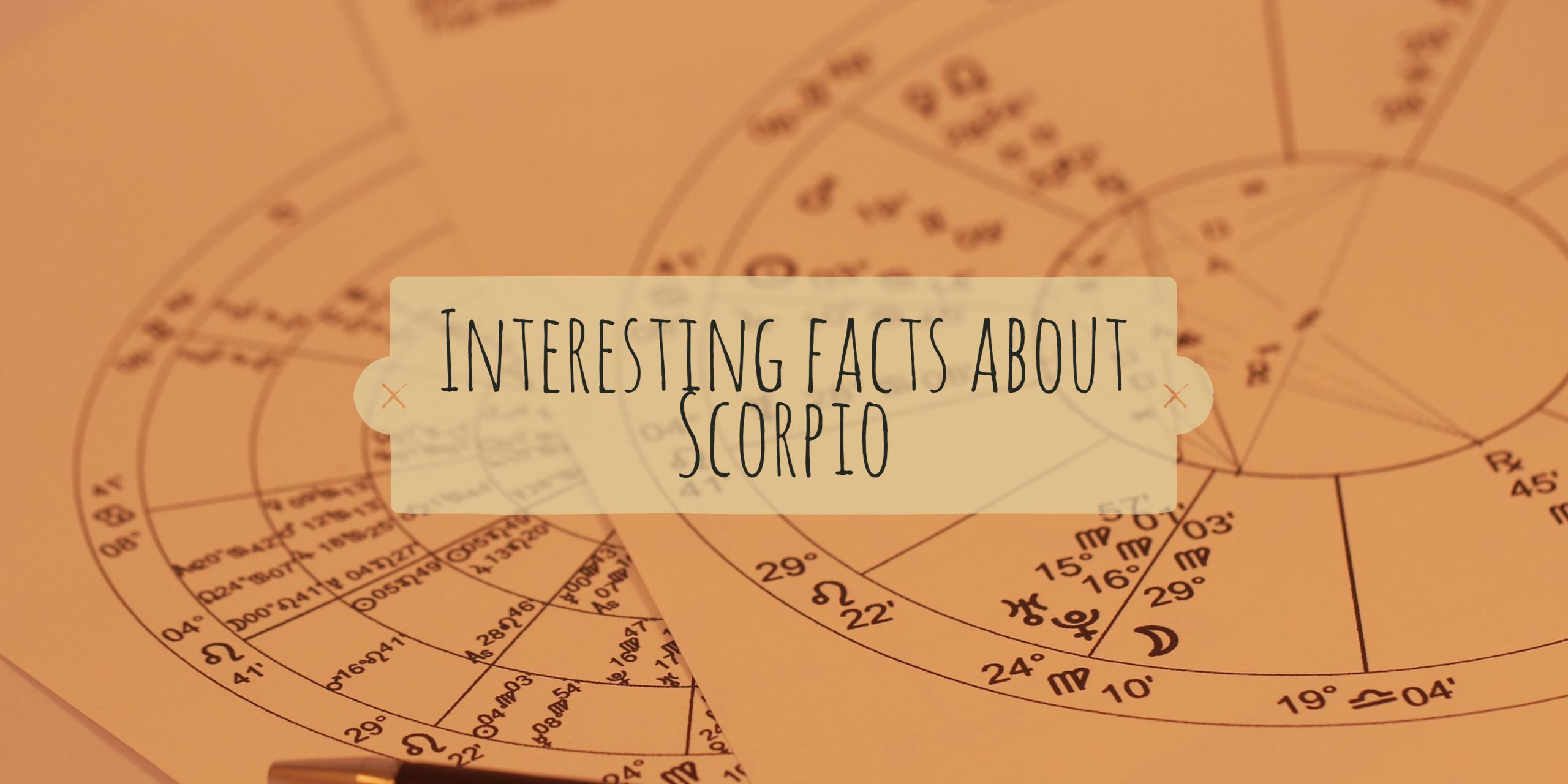 Interesting Facts About Scorpio